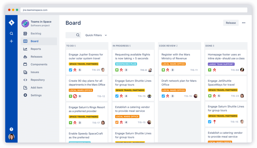 One of the many Jira Hacks on this blog is to use design boards to meet your goals